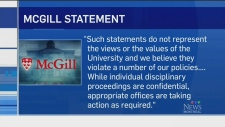 McGill statement