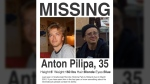 Helenice Vidigal shared a missing person poster of Anton Pilipa on her Facebook page.