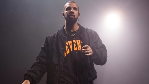 Drake performs in concert as part of the Summer Sixteen Tour in New York on Aug. 5, 2016. THE CANADIAN PRESS/AP, Invision - Charles Sykes