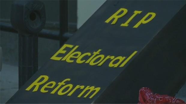 Edmontonians protest electoral reform decision
