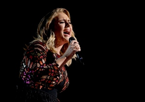"Adele performs ""Hello"" at the 59th annual Grammy Awards on Sunday, Feb. 12, 2017, in Los Angeles. (Photo by Matt Sayles/Invision/AP)"