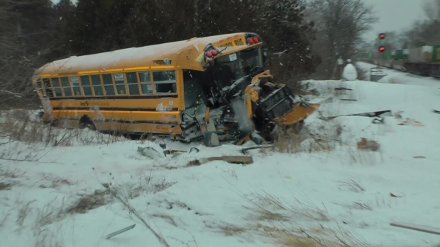 No One Injured After Train Hits School Bus Near Belleville