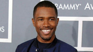 Frank Ocean arrives at the 55th annual Grammy Awards in Los Angeles, on Feb. 10, 2013. (Jordan Strauss / Invision / AP)