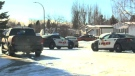 Police cordoned off a large area in Lethbridge after two men barricaded themselves inside a home on Dalhousie Court W on February 10, 2017.