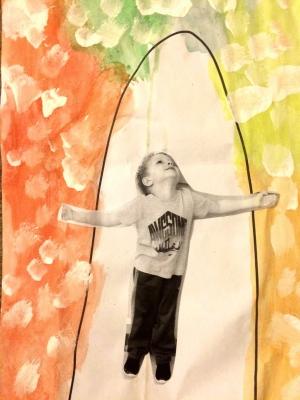 Weather art by Mason, age 5.