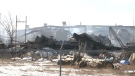Crews were called to a fire at Flexible Solutions in Taber, near the intersection of Highway 3 and Highway 36, on Saturday, February 11, 2017.