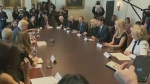 Female business leaders meet Trudeau and Trump