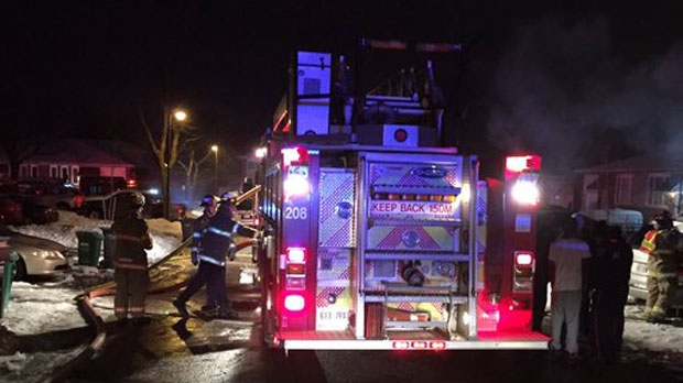 Three dead, little girl seriously injured after townhouse fire in Brampton