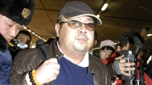 A man believed to be Kim Jong Nam, eldest son of then North Korean leader Kim Jong Il, at Beijing airport, on Feb. 11, 2007. (Kyodo News)