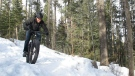 Fat biking is just one of many activities you can try in Alberta's provincial parks over the Family Day long weekend. Admission to the park is free for the holiday. (Supplied)