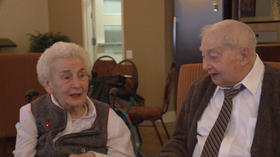 Margaret (left) and Nelson Evoy were just honoured for 78 years of marriage. (Mike Mersereau/CTV Ottawa, February 12, 2017)