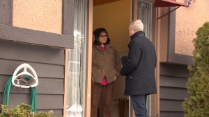 Deb Goddard of Delta tells CTV's Ross McLaughlin she was targeted by salespeople claiming to be working with FortisBC. (CTV)