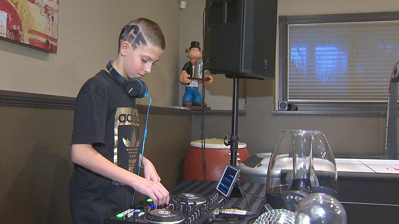 Sebastian Reinhart, 11, (aka DJ Sabatoge) is set to open for rapper Madchild in Red Deer on Thursday, February 16, 2017.