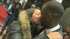 Mater Diouf proposed to Tania Gokhool where they met: Lionel Groulx metro