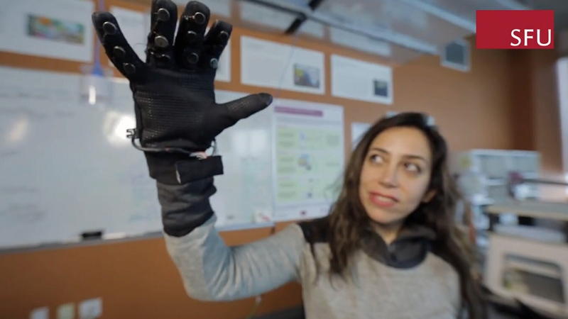 Inspired by the struggles of long-distance relationships, the gloves allow users to feel others' movements.
