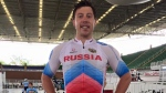 Shane Perkins in a Russia cycling team uniform. (Source: Facebook)