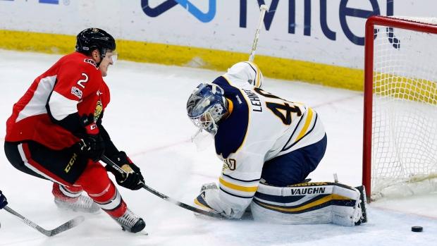 Ottawa Senators Dion Phaneuf, Sabres Robin Lehner