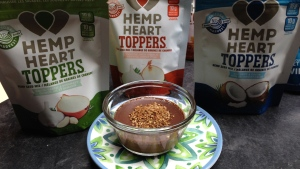 Mocha Pot de Crème with crunchy Coconut Hemp Heart Topping. (Brenda Woods/CTV Ottawa)