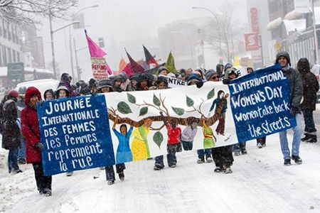 An image from last year's march, which went ahead inspite of a snow storm. (Mar. 8, 2009)