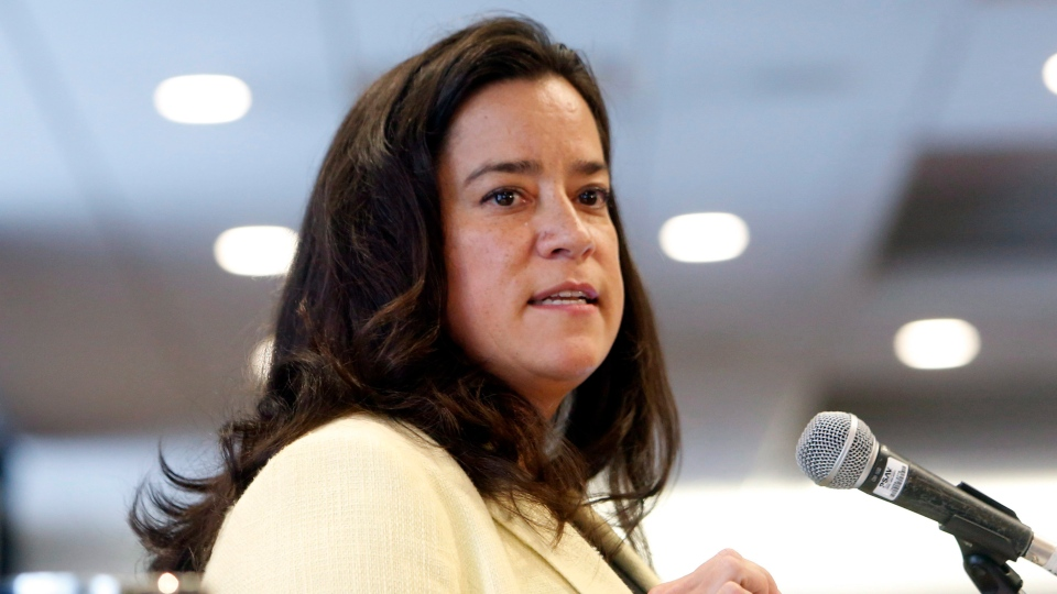 Justice Minister Jody Wilson-Raybould addresses the First Nations 'Expanding the Circle' conference, in Ottawa on Wednesday, Feb. 15, 2017. (Fred Chartrand / THE CANADIAN PRESS)