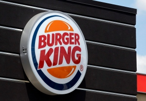 Signage at a Burger King restaurant in Indianapolis, June 20, 2012. (AP / Michael Conroy)