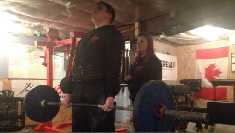 Fifteen-year-old Colin Rose had a dead lift of 405 pounds, believed to be a national record for his age.