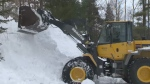 Snow removal crews across Nova Scotia are looking for places to put all the snow that fell Monday.