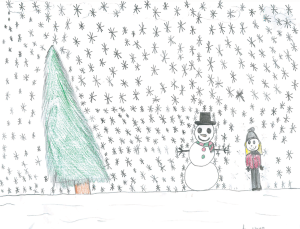 Weather art by Nevaeh, age 11.