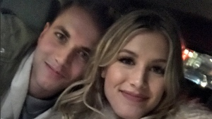 Genie Bouchard and her date, John from Chicago, aka @punslayintwoods, on a date in New York on Feb. 15, 2017
