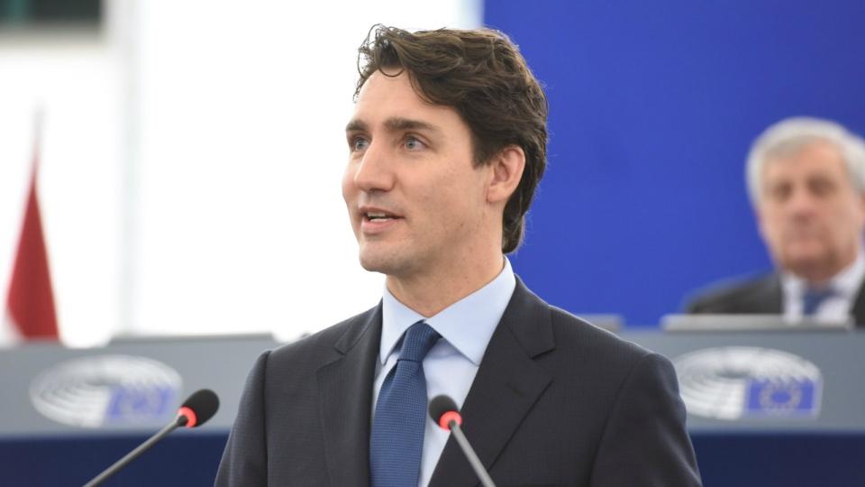 Trudeau address European Parliament