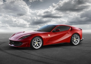 The Ferrari 812 Superfast is shown. (Ferrari North Europe / AFP)