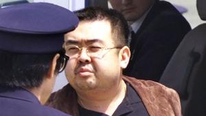 Kim Jong Nam at the airport in Narita, Japan, on May 4, 2001. (Itsuo Inouye / AP)
