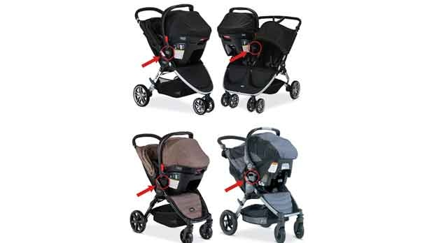 Britax stroller models recalled