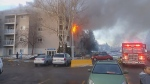 Edmonton condo fire