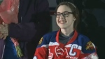 Becca Schofield was honoured by the Moncton Wildcats Wednesday, Jan. 15, 2017. The team paid tribute to her with a touching video highlighting the many good deeds done inspired by #BeccaToldMeTo.