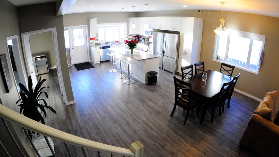 OUTSaskatoon's Pride Home, pictured here, welcomed its first two residents at the end of January. (supplied)