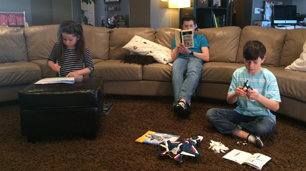 The Lapkin family cut out screen time during the week two years ago. (Beth Macdonell/CTV Winnipeg)