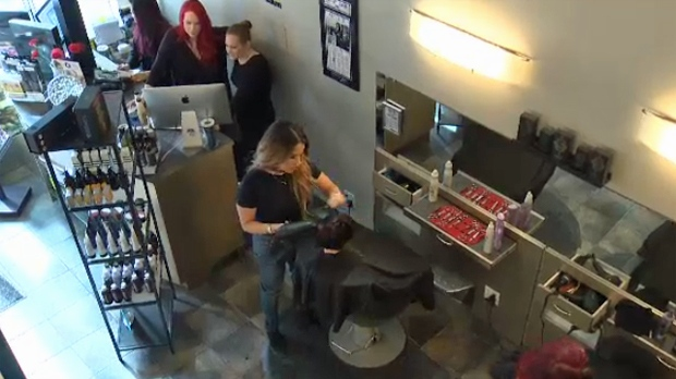 Influence Salon, which is owned by Wendy Belanger, aims to operate like a close-knit family. (CTV Calgary)