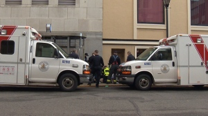Paramedics tried to revive a 41-year-old man on an overdose call to Langley Street in downtown Victoria on Thursday but were unsuccessful in their attempts. Feb. 16, 2017.