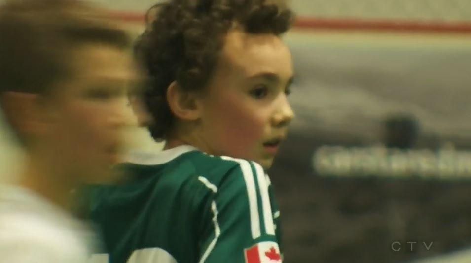 Ryder Rattee wants to become a professional soccer player like his father.