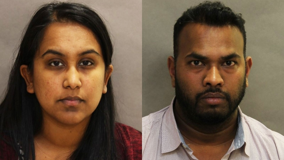 Sukanya Panchalingam, 30, and Balasubramaniam Shanjeefkaran, 35, are shown in this police handout.