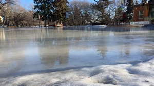 Meewasin Valley Outdoor Rink - melt