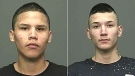 Police are searching for Justin Harper (left) and Joshua Leclerc (right). (Source: Winnipeg Police Service)