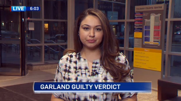 Ina Sidhu covered the Garland trial for CTV Calgary and provided live updates from the Calgary Courts Centre during the five weeks.