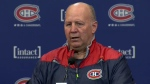 Claude Julien, head coach of the Canadiens, after his first practice with the team on Feb. 17, 2017