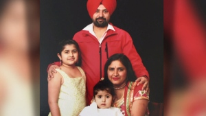 Nimrat Gill, pictured with her family, died Tuesday, Feb. 7, 2017 at Abbotsford Regional Hospital.