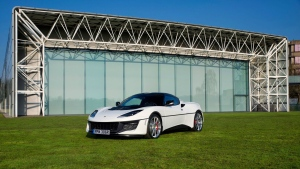 The one-of-a-kind Lotus Evora Sport 410 honours iconic Esprit S1 in this provided photo. © Group Lotus plc