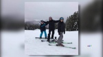 Beckham family on snowboarding vacation