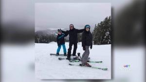 Beckham family on snowboarding vacation