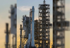 This photo provided by NASA shows a SpaceX Falcon 9 rocket on the launch pad, Saturday, Feb. 18, 2017 at Launch Complex 39A at the Kennedy Space Center in Cape Canaveral, Fla.